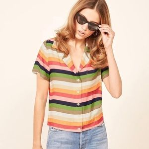 Reformation Stripe Palma Top New S small